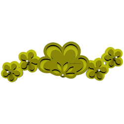 Wieszak na klucze Merletto CalleaDesign oliwkowo-zielony 56-18-1-54