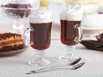 Szklanki do kawy altom design irish coffee, zestaw 2 szklanek + łyżeczki koktajlowe