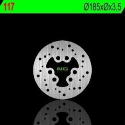 Ng117 tarcza hamulcowa suzuki rmx 50 97-02 185x3,5 6x15,5mm