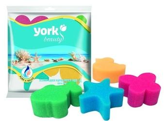 York, mini, zestaw gąbeczek kąpielowych, 4 sztuki