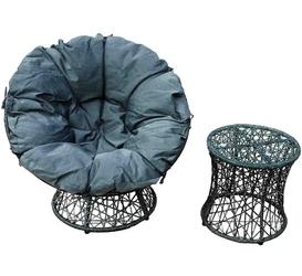 Fotel ogrodowy ze stolikiem distrito szary