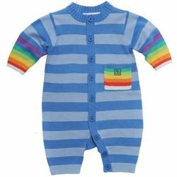 Tęczowy Pajacyk niebieski Rainbow Playsuit Blue