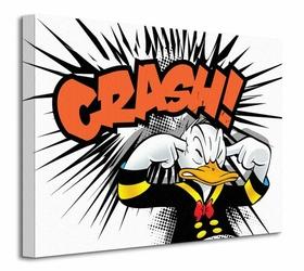 Donald Duck Crash - Obraz na płótnie