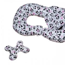 Poduszka ciążowa do karmienia w ciąży panda zestaw