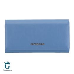 Duży błękitny portfel damski peterson pl807 rfid