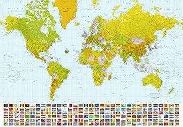Mapa świata 2007 - fototapeta