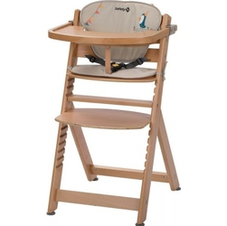 Safety 1st timba natural drewniane krzesełko z wkładką happy day + puzzle