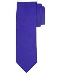 Purpurowy jedwabny krawat profuomo