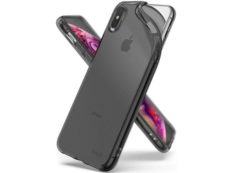 Etui ringke air do apple iphone xs max smoke black + szkło invisible - czarny