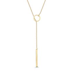 Staviori Naszyjnik krawatka złoty 45cm. Żółte Złoto 0,333.  Długość regulowana dowolnie.
