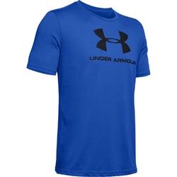 Koszulka męska under armour sportstyle logo ss - niebieski