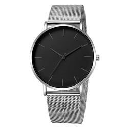 Zegarek damski na bransolecie mesh srebrny