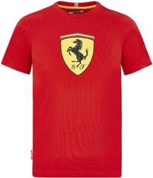 Koszulka dziecięca scuderia ferrari f1 czerwona - czerwony