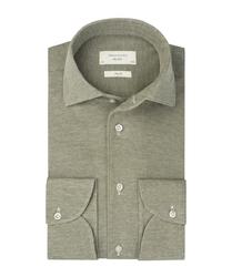 Zielona dzianinowa koszula profuomo slim fit 42