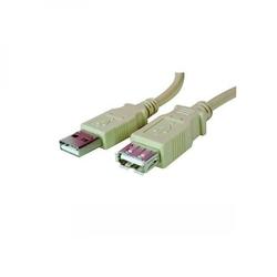 Kabel usb 2.0, usb a  m- usb a f, 1.8m, czarny, logo