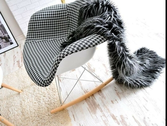 Fotel bujany tunis wood pepitka