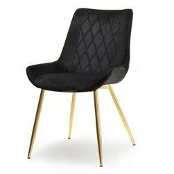 Krzesło do salonu amiro czarne welur