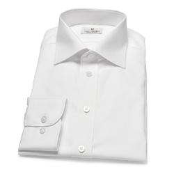 Biała koszula VAN THORN z kołnierzykiem półwłoski 45