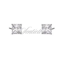 Srebrne kolczyki pr.925 4 x 4mm kwadratowe