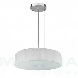 Trinity lampa wisząca 3 chrom biały abażur szkło