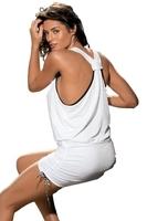 Sukienka plażowa marko elsa bianco m-313 biała 287