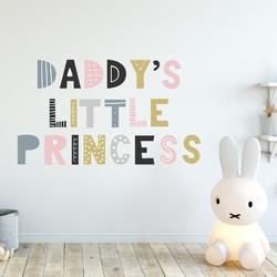 Naklejka na ścianę - daddys little princess , wymiary naklejki - szer. 100cm x wys. 60cm