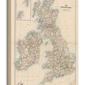 Stanfords mapa wielkiej brytanii 1884 - obraz na płótnie