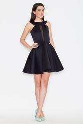 Czarna wieczorowa rozkloszowana sukienka