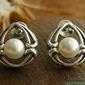 Sagres - srebrne kolczyki z perłą