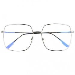 Okulary kwadratowe z filtrem światła niebieskiego do komputera zerówki t7588b