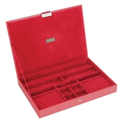 Pudełko na biżuterię z pokrywką supersize Stackers czerwone