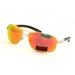 Czerwone stylowe klasyczne męskie okulary z polaryzacją