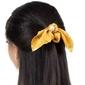 Gumka frotka do włosów scrunchies żółta kwiaty