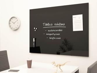 Tablica szklana magnetyczna czarna 150x100cm