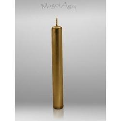 Świeca z wosku 9x1,2cm - złota