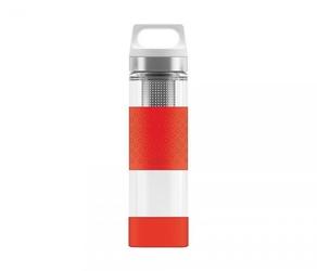 Termos szklany sigg wmb z zaparzaczem hot amp; cold glass 400 ml czerwony