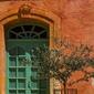 Zielone drzwi - plakat premium wymiar do wyboru: 84,1x59,4 cm