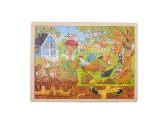 Ogród drewniane puzzle 96 el.