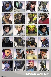 Overwatch characters - plakat z gry