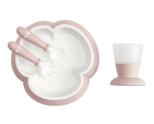 Babybjorn - zestaw do karmienia powder pink, 4 m+