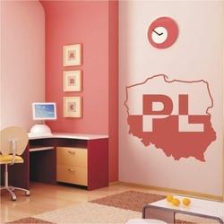 mapa Polski 4 naklejka