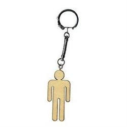 Drewniany brelok do kluczy - mężczyzna - MĘŻ