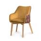 Kubełkowe krzesło sofia