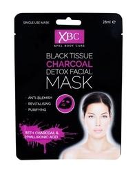 Xpel body care black tissue charcoal detox facial mask maseczka do twarzy dla kobiet 28ml