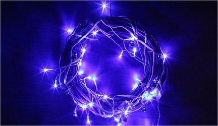 Lampki świąteczne 20 led niebieskie na baterie 3m joylight