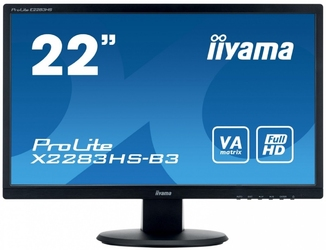 Iiyama monitor 22 prolite x2283hs-b3 va,hdmi,dp,2x1w,sluchawkowe wej.