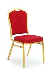Krzesło do jadalni k66 bordowy złoty