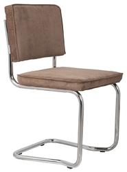 Zuiver krzesło ridge kink rib kawowe 8a 1100060