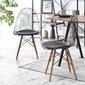 Krzesło tunis wood loft czarne