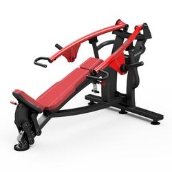 Maszyna na wolny ciężar na klatkę piersiową w skosie dodatnim mf-u004 - marbo sport - bordowy  antracyt metalic